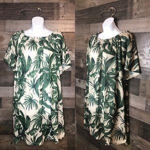 H & M Tropical Palm Leaf Dress
